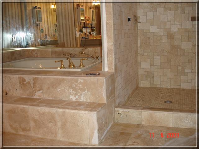 Bathroom Remodeling In Alpharetta Ga Shower Travertine Tile - Bathroom remodel alpharetta ga