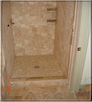 Bathroom Remodeling In Alpharetta Ga Shower Travertine Tile Installation