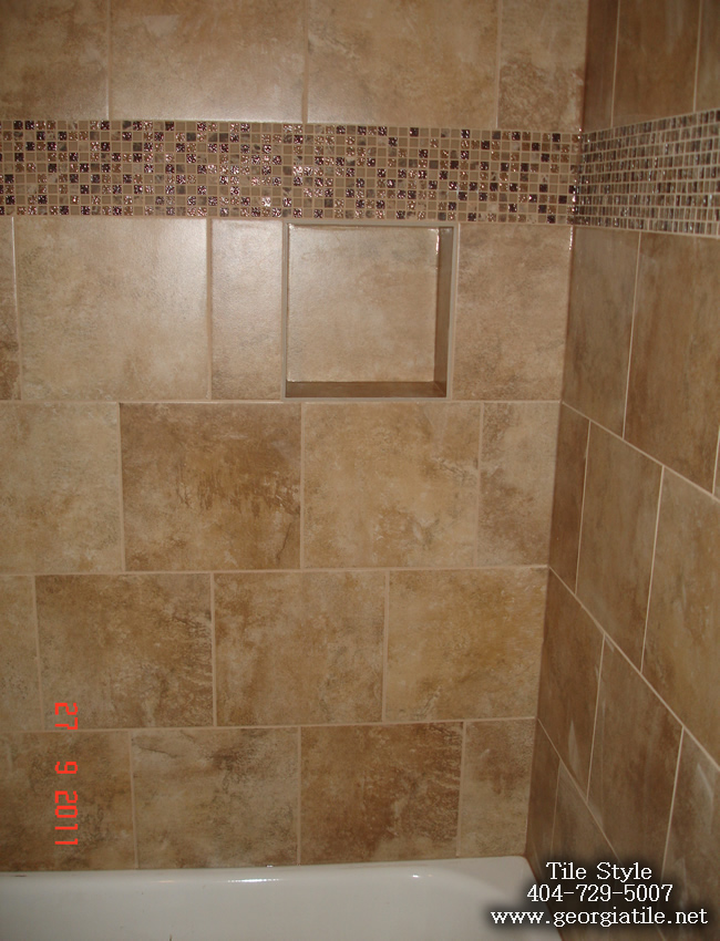 Tile Style Travertine Tub Shower Remodel Alpharetta Ga
