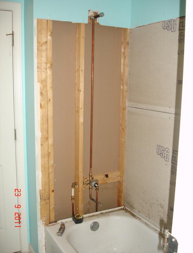 Tile style travertine tub shower remodel alpharetta ga - Bathroom tub and shower designs tips ...
